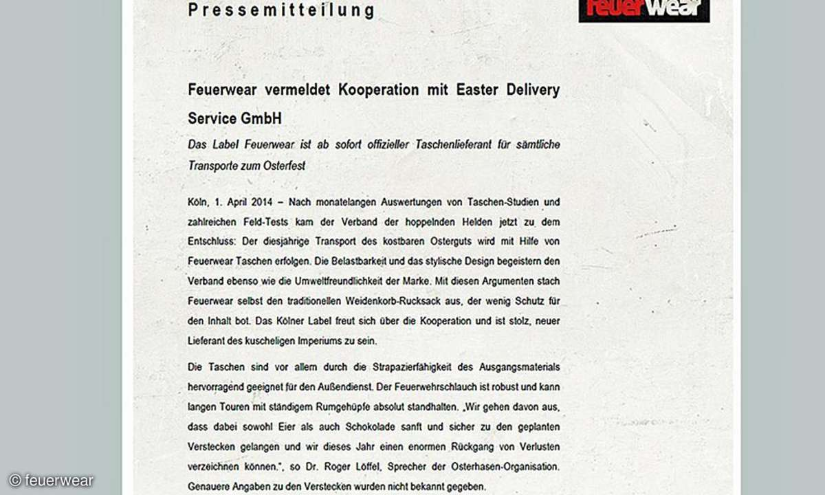 Pressemitteilung zur Kooperation mit Easter Delivery