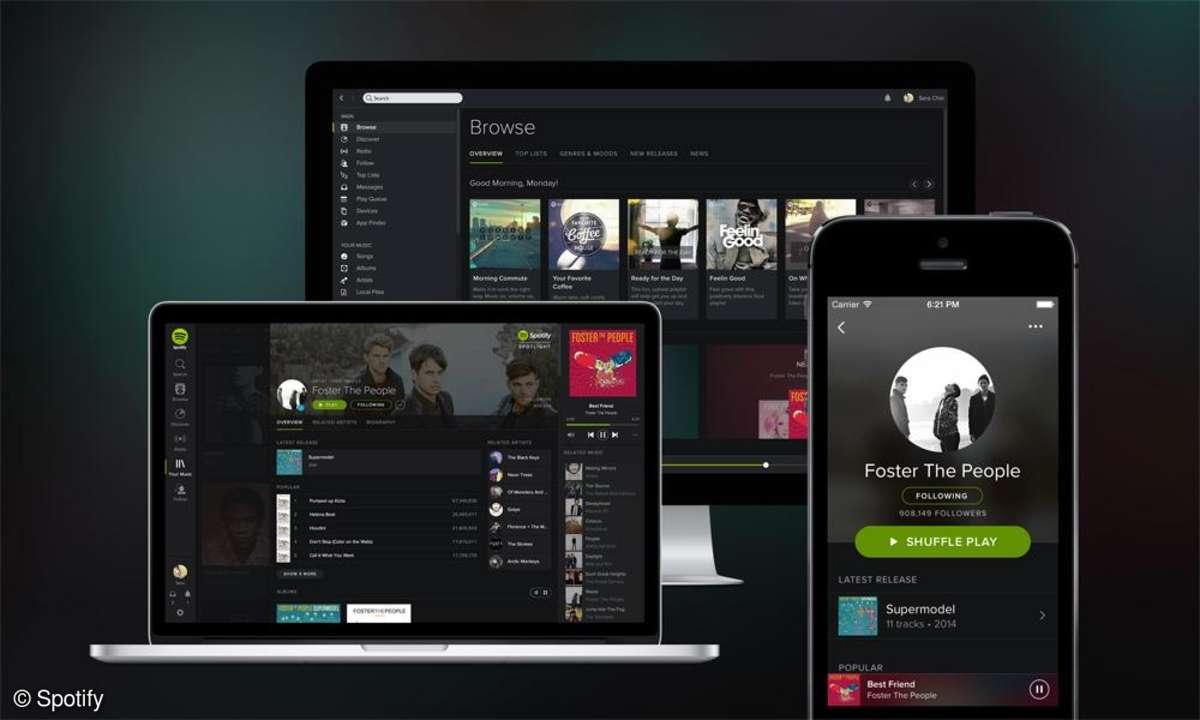 Spotify neues Design