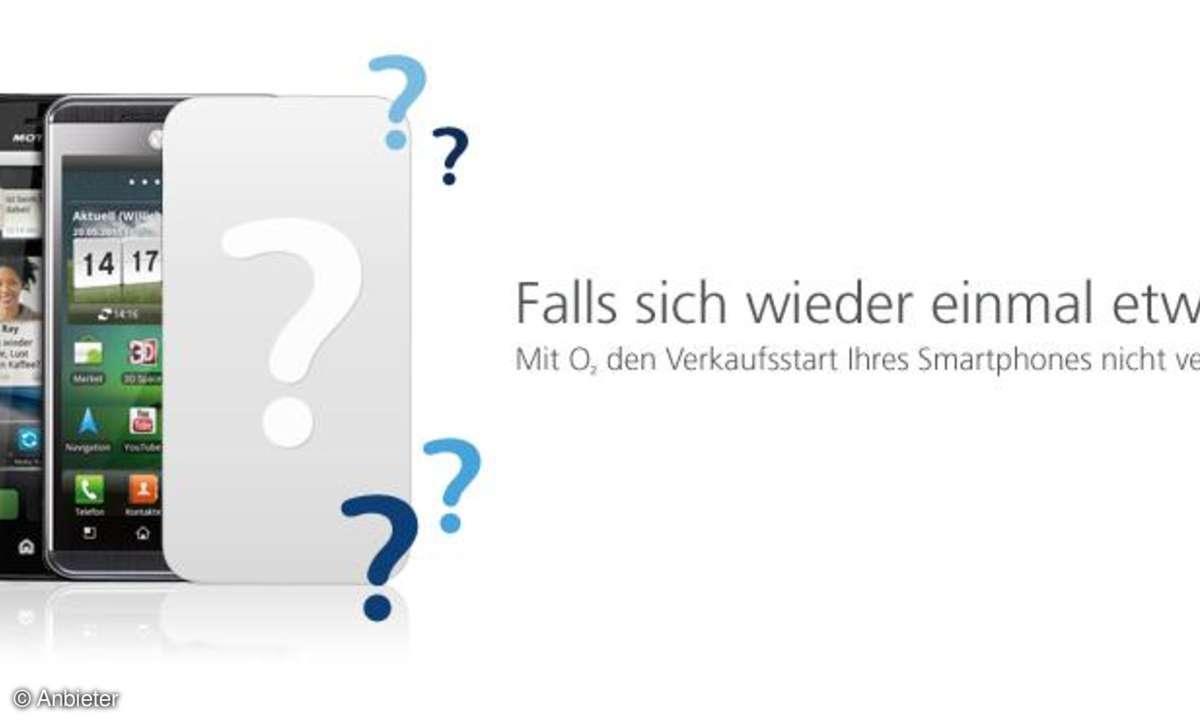 Die iPhone-Anmeldeseite von o2: Falls sich wieder einmal etwas ändert