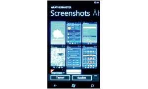 Voransicht: Zur Beschreibung jeder App zählen auch Screenshots, anhand derer Sie sich ein Bild von den Menüs und Funktionen machen können.