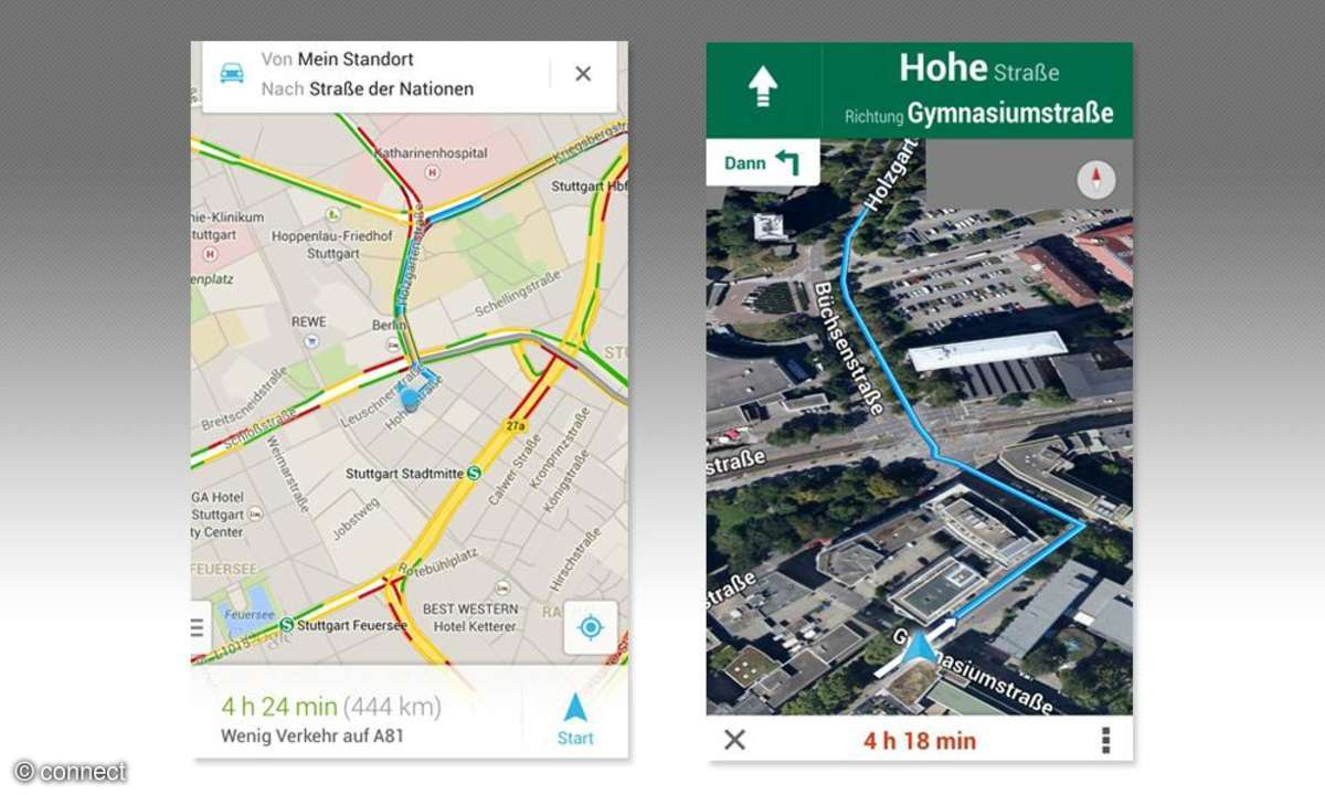 Update der Karten-App für iOS und Android