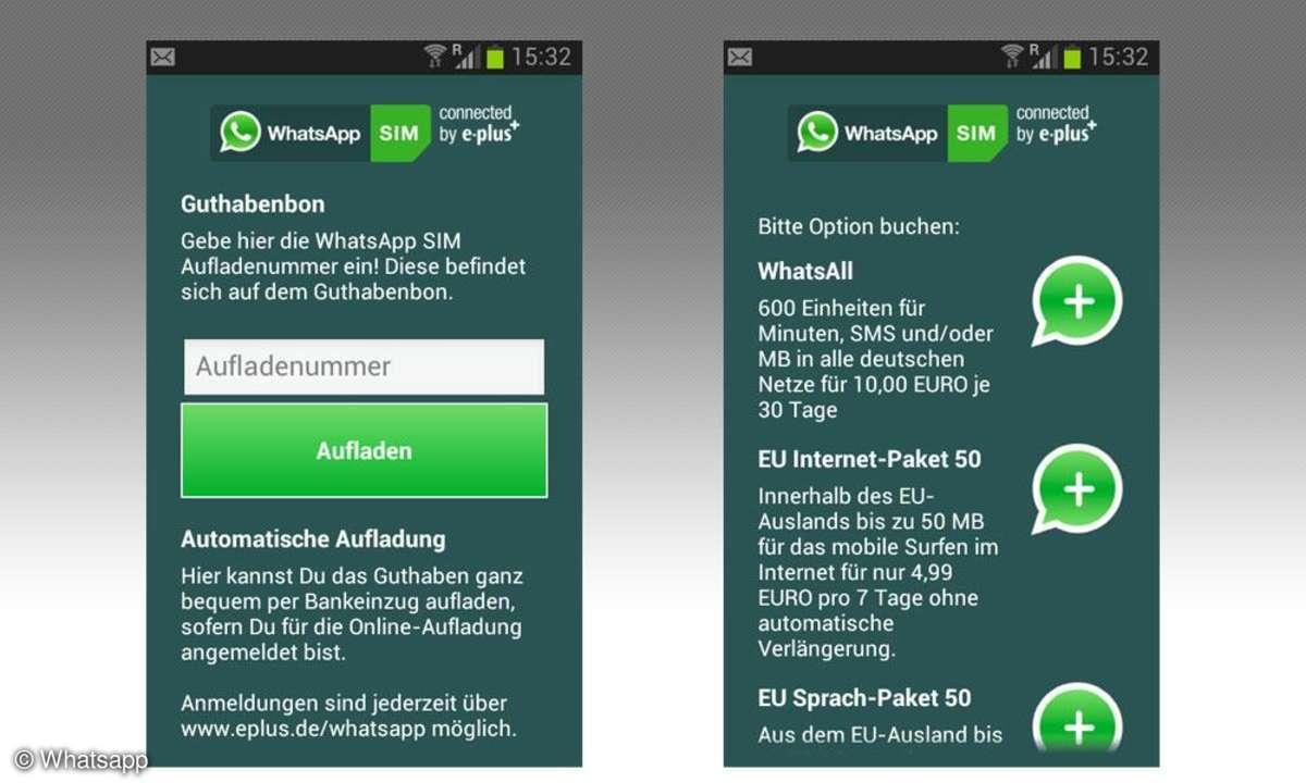 Whatsapp-Tarif