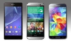 Sony Xperia Z2, HTC One (M8), Samsung Galaxy S5