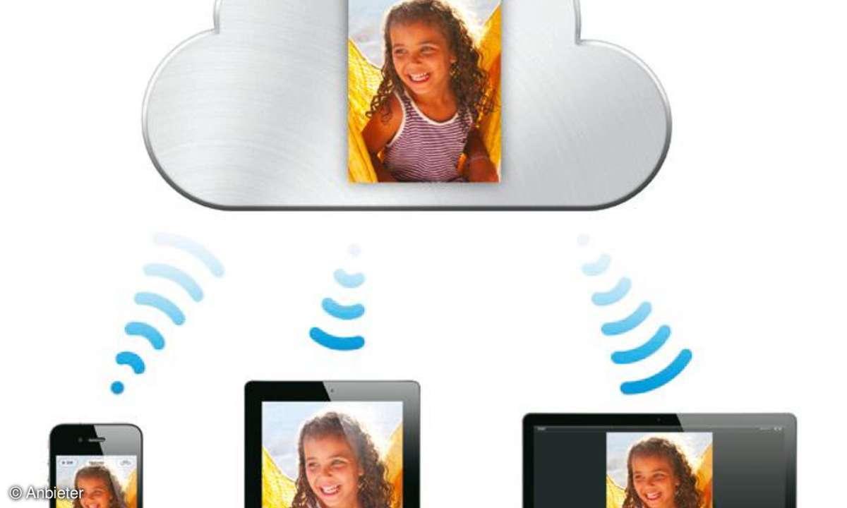 Himmlisch: Der iCloud-Dienst sychronisiert iPhones, iPads und Macs.