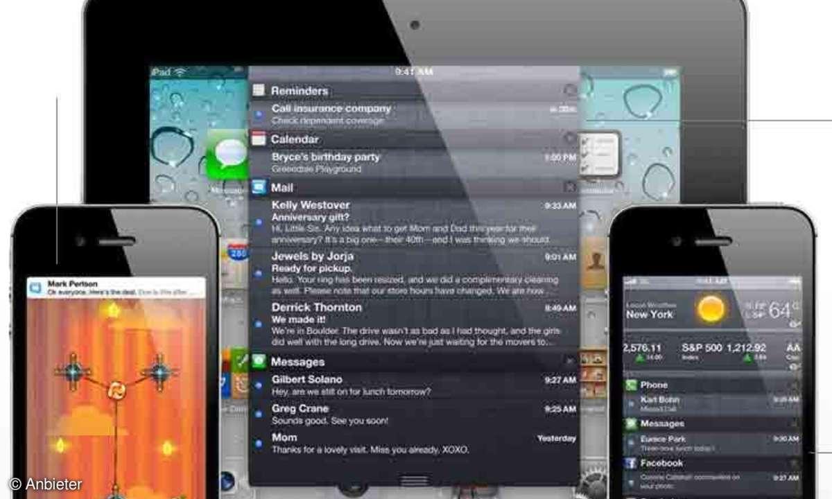 Das Notification Center von iOS 5