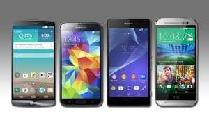 LG G3, Samsung Galaxy S5, Sony Xperia Z2 und HTC One M8