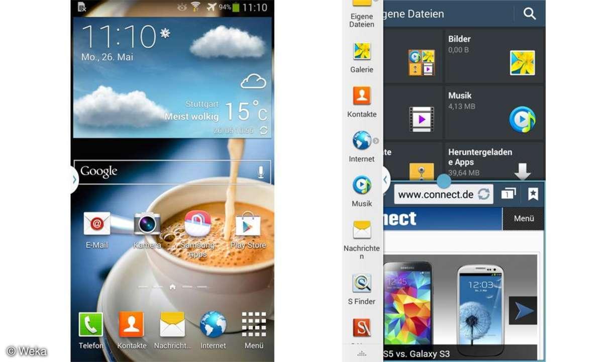 Galaxy Note 3 Neo, Screenshots, Multi Window
