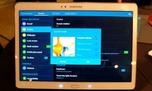 Samsung Galaxy Tab S Menü