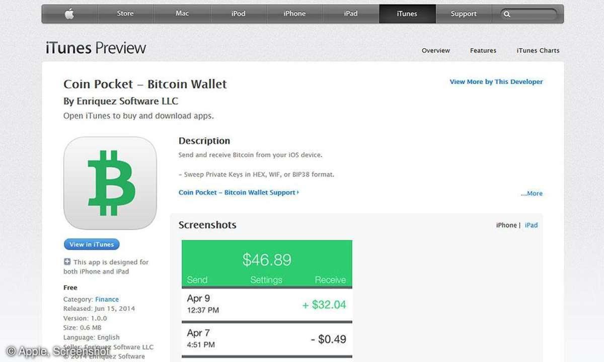 Coin Pocket App Store