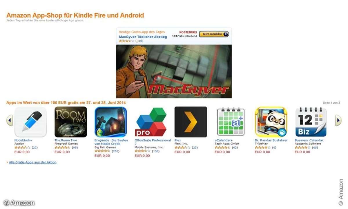 Amazon verschenkt Apps