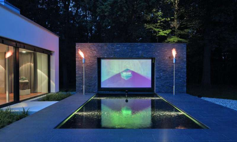 smarthome traum dieses outdoor kino ist deluxe connect. Black Bedroom Furniture Sets. Home Design Ideas