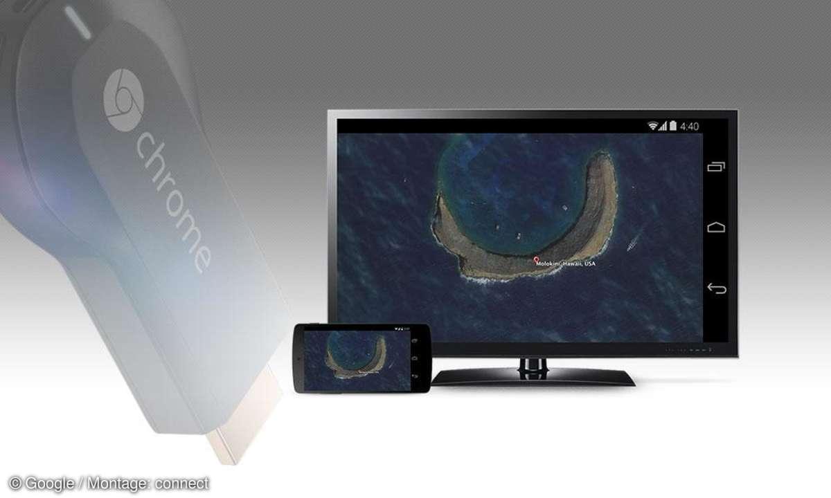 Chromecast Bildschirm spiegeln