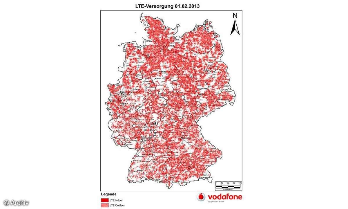 LTE-Abdeckung Vodafone