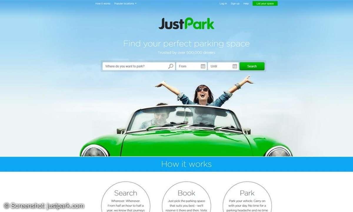 JustPark soll die Parkplatzsuche revolutionieren.