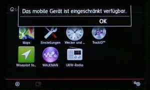 VW Polo Navi Fehlermeldung