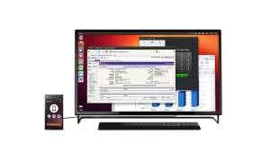 Das Ubuntu Edge ist zugleich Smartphone und Desktop-PC.