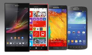 Sony Xperia Z Ultra, Nokia Lumia 1520, Samsung Galaxy Note 3, Samsung Galaxy S4 Active