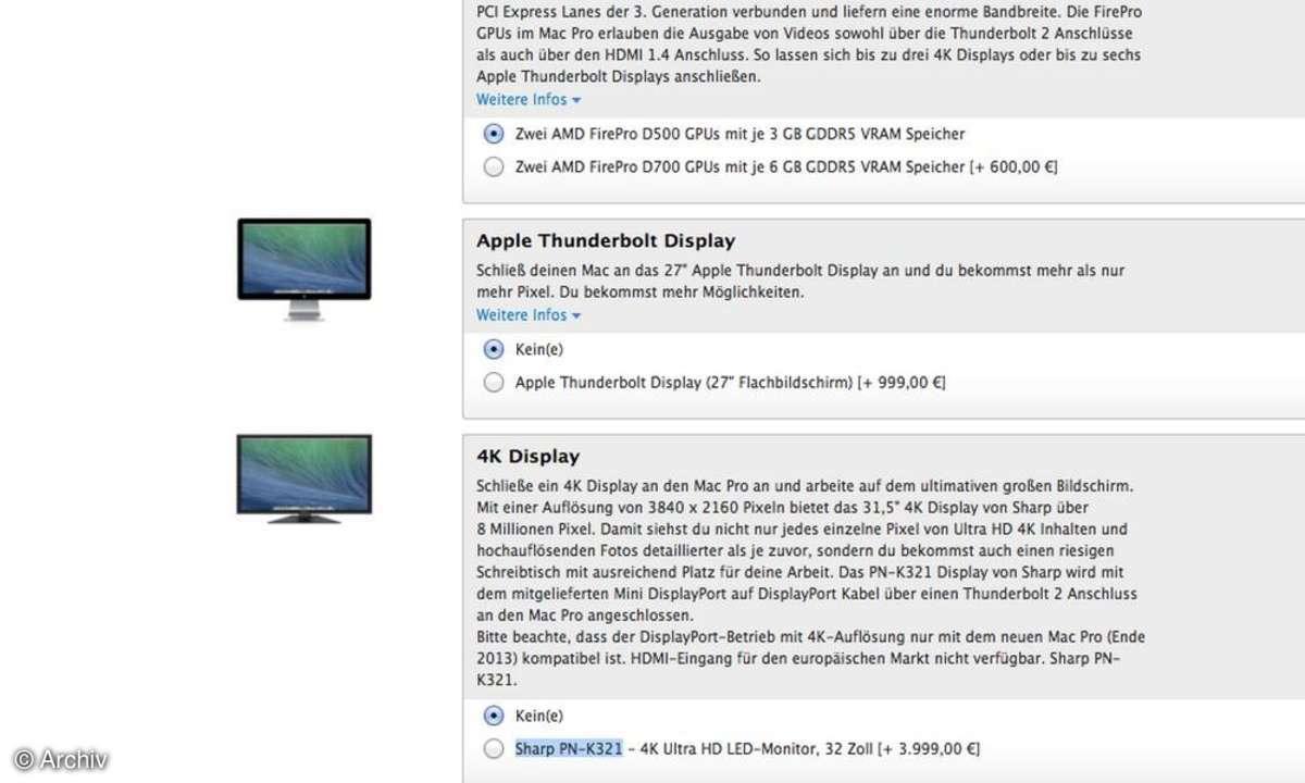 Apple Thunderbolt Display, 4K-Display