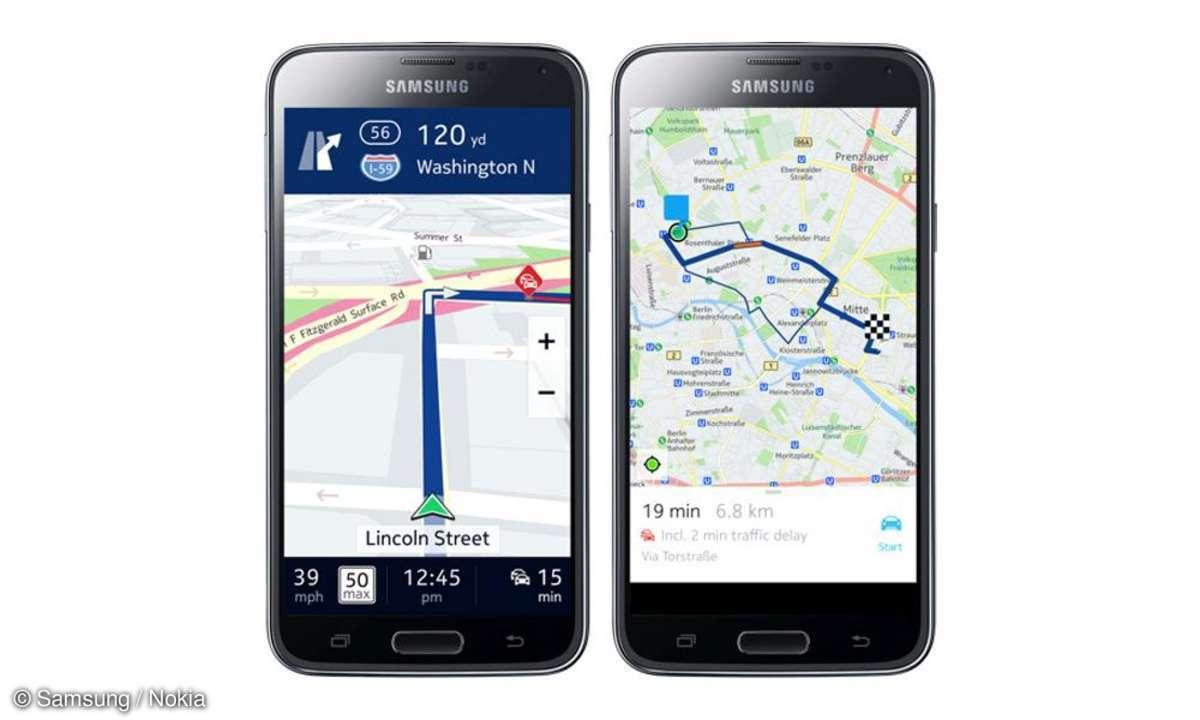 Nokia Here kostenlos für Samsung Galaxy