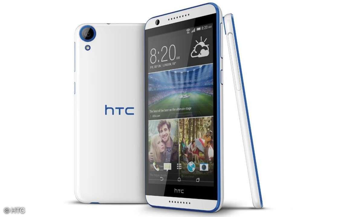HTC Desire 820: Das Smartphone hat einen 64-Bit-Quad-Core-Prozessor.