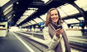 Handy-Empfang im Zug