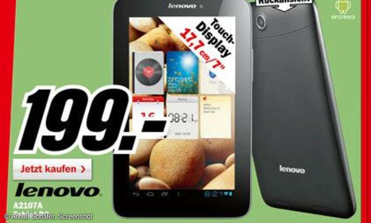 Lenovo IdeaPad A2017A, 7 Zoll Tablet