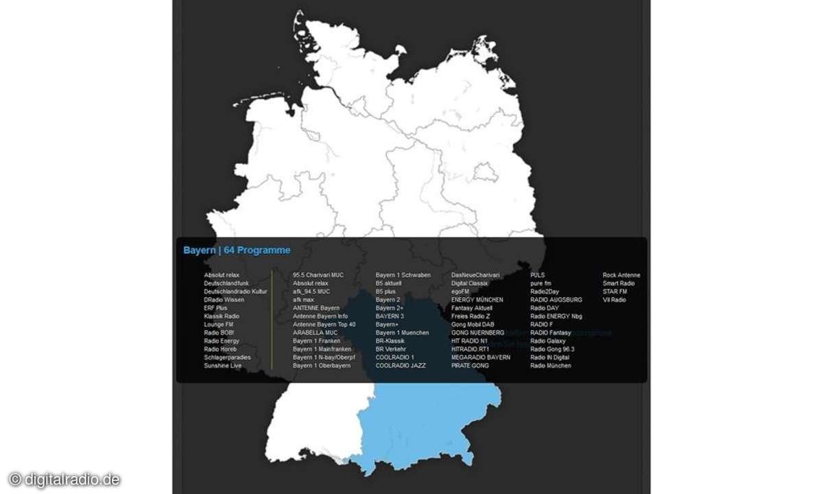 Bundesweit verfügbare Sender