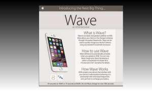 Fake-Anzeige zu iOS 8 Wave