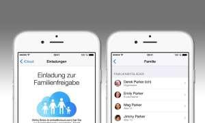 iOS 8 Familienfreigabe