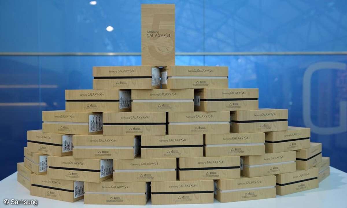 Samsung Galaxy S5,Verkaufsstart