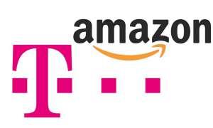 Telekom und Amazon-Logo