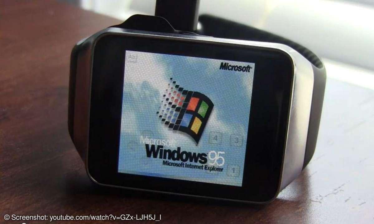Windows 95 auf Smartwatch