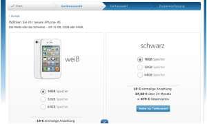 iPhone 4S bei o2: Teurer, aber mit Ratenfinanzierung
