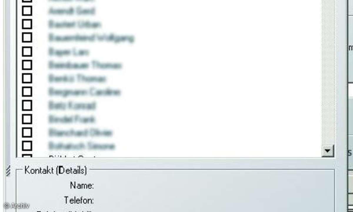 Schnittstelle zu Outlook integriert