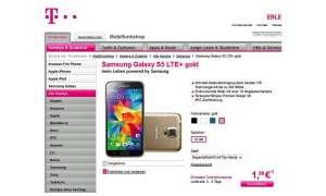 Samsung S5 LTE+, Telekom
