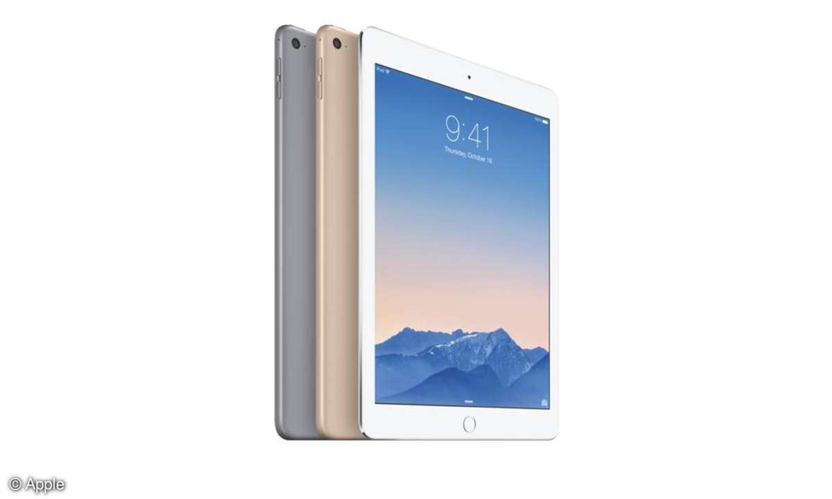 Das Apple iPad Air 2 in drei Farben