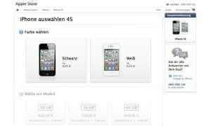 iPhone 4S im Apple Store