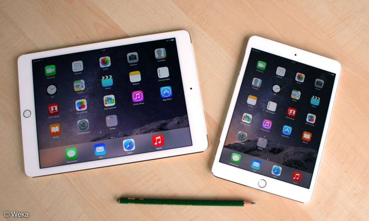 iPad air 2, mini 3