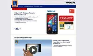 Nokia Lumia 625, Aldi Süd