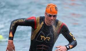 Zum Ironman gehört auch das Schwimmen.