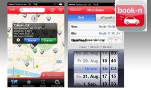 Book-n-drive, Carsharing, App