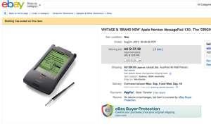 Apple Newton, ebay