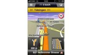 Navigon 2.0, Navi App, iPhone