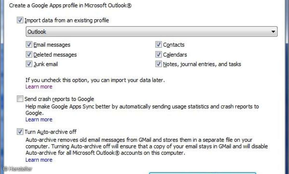 Google Apps Sync for Outlook