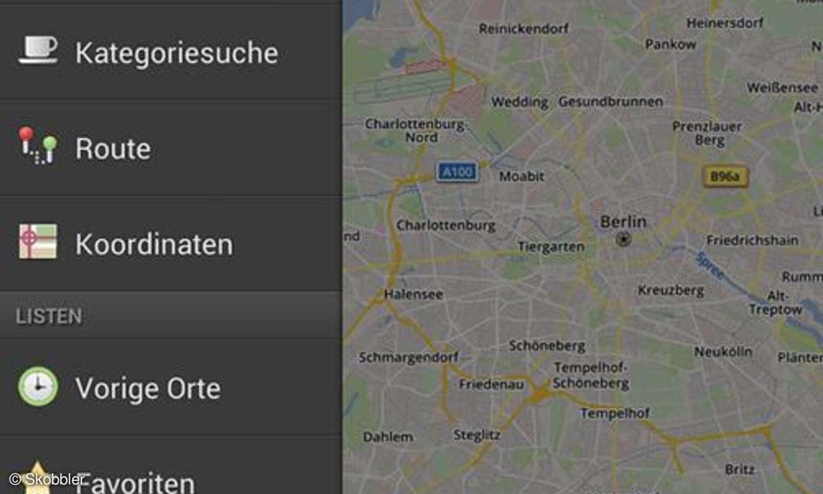 Skobbler ForeverMaps2, Routen-App