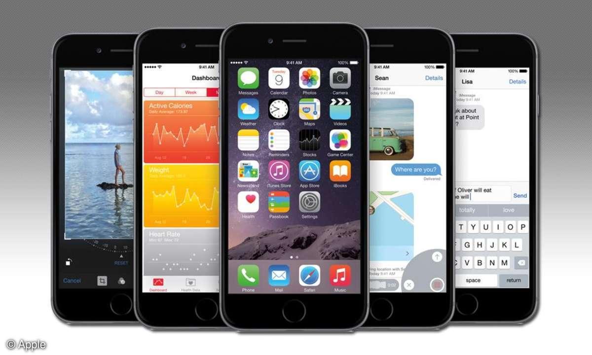 iOS 8 auf iPhones