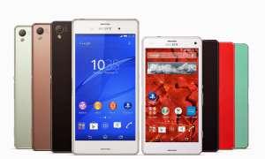 Sony arbeitet an der Xperia Z4-Generation mit verschiedenen Geräten.