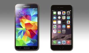 Samsung Galaxy S5 und Apple iPhone 6