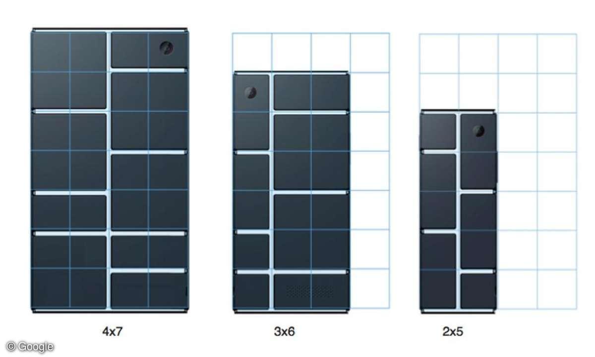 Project Ara: Rahmengrößen