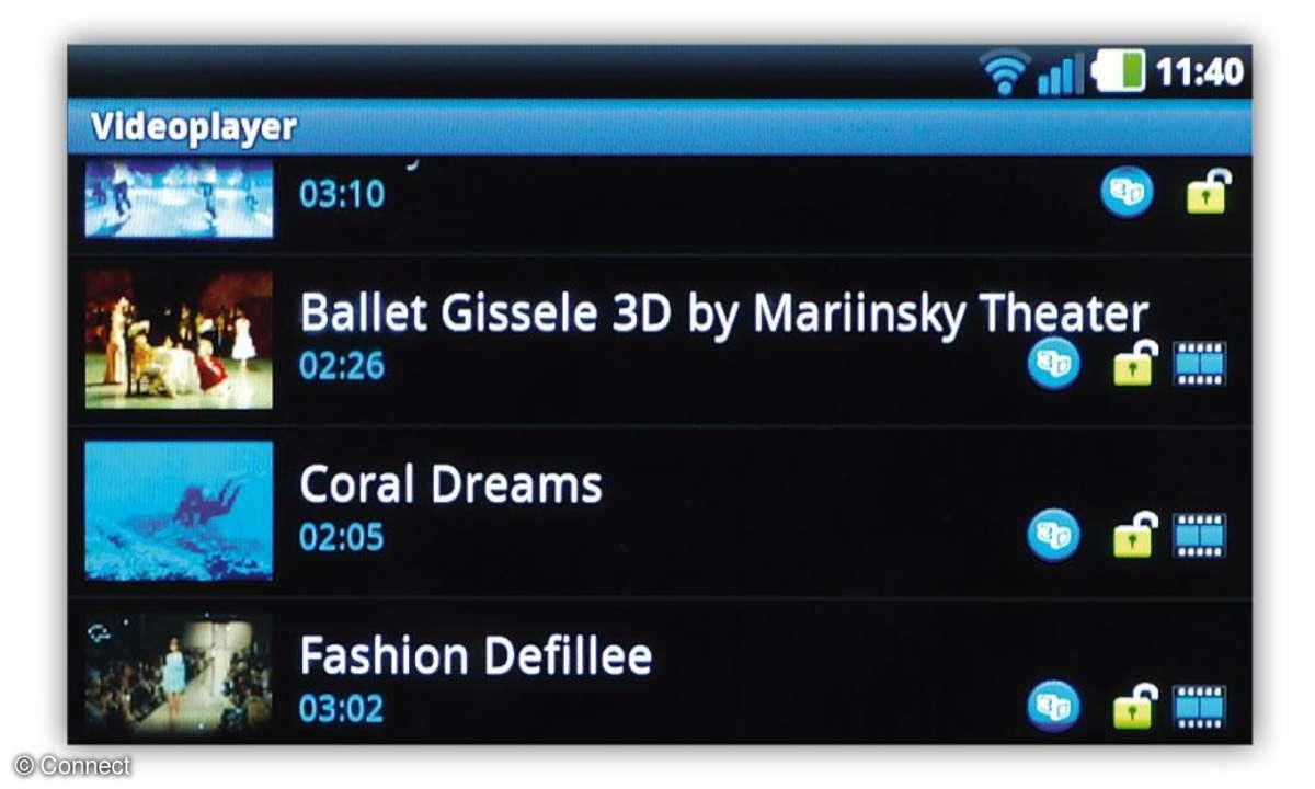 LG Optimus 3D Videoplayer